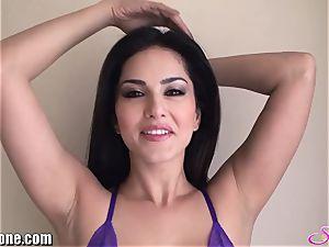 SunnyLeone Sunny Leone in killer purple underwear