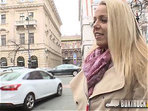 stunning Christen Courtney face-fucked in public