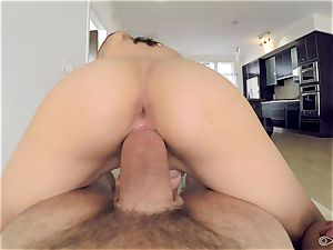 point of view - Kristina Bell covets ample salami for her pussyhole
