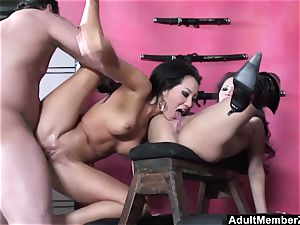 lucky fellow 3 way with japanese dommes