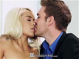 PASSION-HD Mid masturbation bang with Elsa Jean