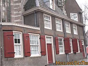 Real dutch slut wanking