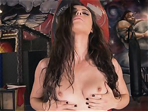 Boxing honey Casey Calvert jacking in the boxing club