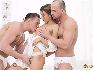 legitimate Videoz - Katrin Tequila - All-white home double penetration party