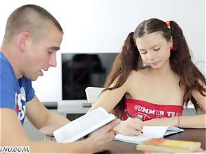 Undergraduate seduced by the delicious Russian damsel Alena