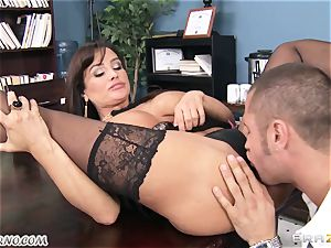 gigantic titty assistant Lisa Ann takes chief's boner in the office