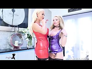 female dame bondage latex dominatrix fetish JOI session
