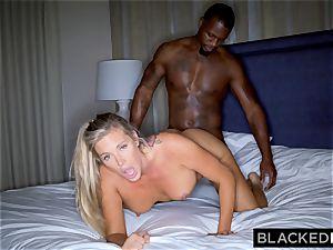 BLACKEDRAW blonde trophy wife Cucks Her husband With big black cock