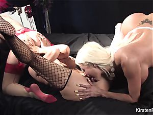 Kirsten, Romi, and Nikita taunt and get it on