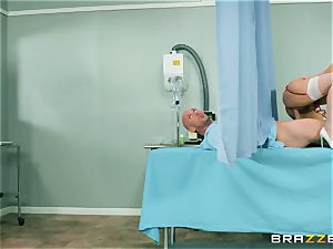 hefty natural orb youthfull nurse Valentina Nappi wants to sense a ample spunk-pump in her jaws