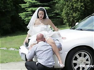 filthy bride takes her chauffeur's penis before her wedding