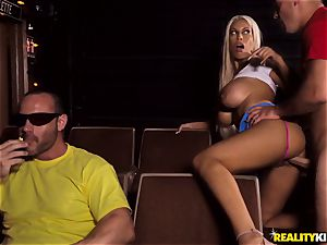 Cinema penis gargling big-titted Bridgette B