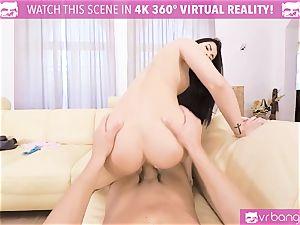 VR PORN-Hot black penetrated firm pov