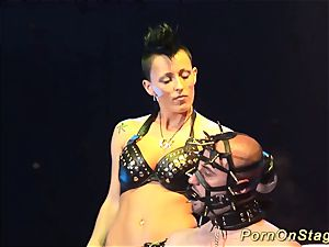 extreme fetish porno on public stage