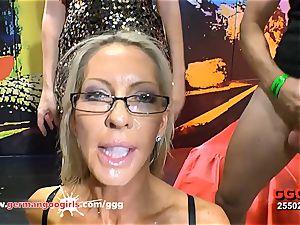 German Goo gals splendid cougar Emma Starr bukkake