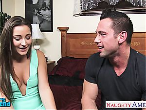 beauty Danie Daniels hops on his ginormous prick and rides him rigid