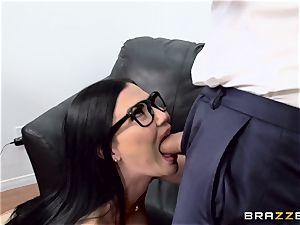 weenie gagging brit honey Jasmine Jae pulverized in her culo