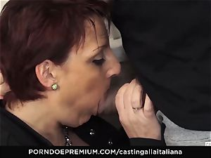 casting ALLA ITALIANA Mature sandy-haired rump drilled deep