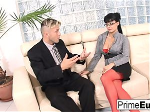 Aletta Ocean gets rectally fucked on the couch