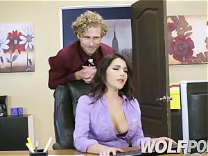 nasty assistant Give a deepthroat job to your boss