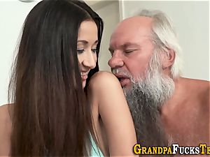 nubile rimmed by elderly dude
