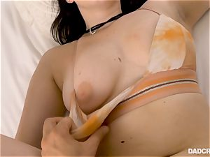 Amilia Onyx fuckbox wedged point of view style by her step-father