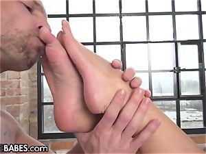 Amirah Adara pummeled as soles worshipped and tongued