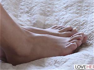 LoveHerFeet - Khloe Kapri climaxes And bursts rock hard