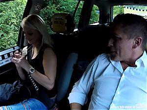 Strangers Voyeurs observing Czech cab car in act