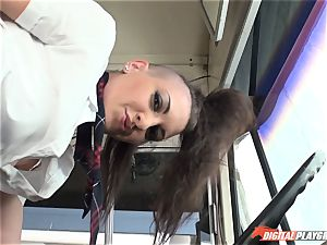 scorching punk dame Rachael Madori boned on the schoolbus