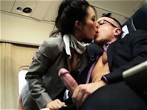Asa Akira and her hostess mates plumb on flight