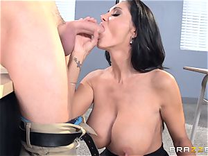 buxomy schoolteacher Ava Addams is banged by her college girl