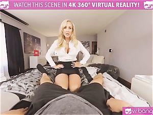 VRBangers.com-MILF is sticking a wand in her vulva