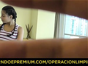 OPERACION LIMPIEZA - lezzie domina foreplay with maid