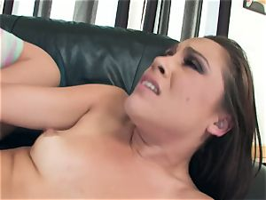 sloppy Kristina Rose enjoys to open up her cheecks wide for a humungous schlong humping