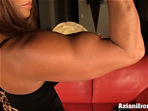 asian model pumps her snatch till its hefty and ample