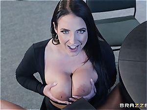 Angela white gets her huge natural juggs rocked